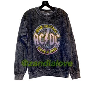 New AC/DC vintage wash crewneck sweater XS